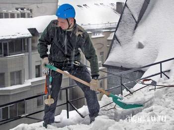 Инструкция по очистке крыш от снега в рб
